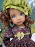 Raisin Bouquet - dress, hat, tights & shoes for Little Darling Doll or 33cm BJD