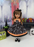 Rattle Dem Bones - dress, socks & shoes for Little Darling Doll or 33cm BJD