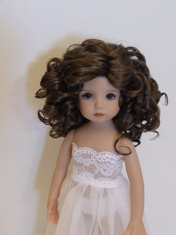 Rebecca Wig in Brown Black - for Little Darling dolls