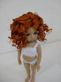Rebecca Wig in Carrot Red - for Little Darling dolls