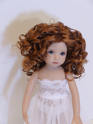 Rebecca Wig in Foxy Red - for Little Darling dolls