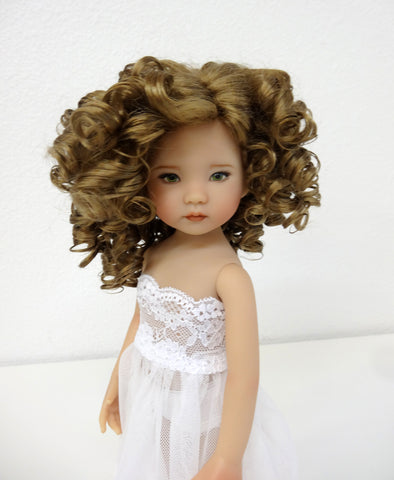 Rebecca Wig in Ginger Brown - for Little Darling dolls