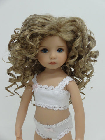 Rebecca Wig in Honey Ash Blonde - for Little Darling dolls