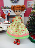 Red Nosed Reindeer - dress, tights & shoes for Little Darling Doll or 33cm BJD