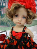 Red Poppy - dress, jacket, hat, tights & shoes for Little Darling Doll or other 33cm BJD