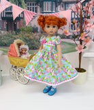Regal Geranium - dress, socks & shoes for Little Darling Doll or other 33cm BJD
