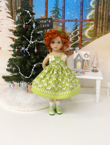 Reindeer Crossing - dress, socks & shoes for Little Darling Doll or 33cm BJD