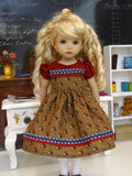 Retro Classroom - dress, tights & shoes for Little Darling Doll