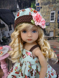 Retro Robin - dress, hat, tights & shoes for Little Darling Doll or other 33cm doll