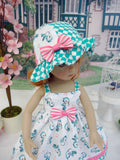 Robin's Tune - dress, hat & sandals for Little Darling Doll or 33cm BJD