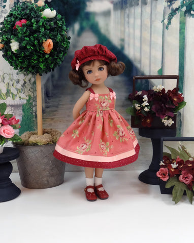 Rose Bouquet - dress, hat, socks & shoes for Little Darling Doll or 33cm BJD