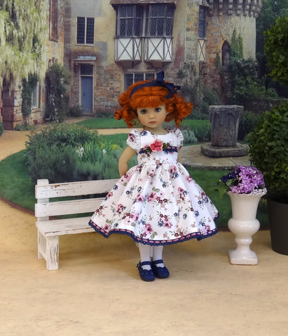 Rose Garden - dress, tights & shoes for Little Darling Doll or other 33cm BJD
