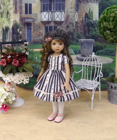 Rose Garland - dress, hat, tights & shoes for Little Darling Doll or 33cm BJD