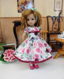 Roses in the Mist - dress, tights & shoes for Little Darling Doll or other 33cm BJD