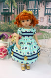 Royal Rose - dress, tights & shoes for Little Darling Doll or 33cm BJD