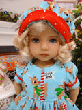 Rudolph - dress, hat, socks & shoes for Little Darling Doll or other 33cm BJD