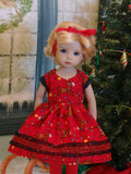 Rudolph the Red Nosed Reindeer - dress, tights & shoes for Little Darling Doll or 33cm BJD
