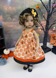 Rustic Jack O'Lantern - dress, hat, tights & shoes for Little Darling Doll or 33cm BJD