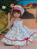 Sail Away - dress, hat & sandals for Little Darling Doll