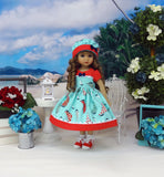 Sailing Away - dress, hat, socks & saddle shoes for Little Darling Doll or other 33cm BJD
