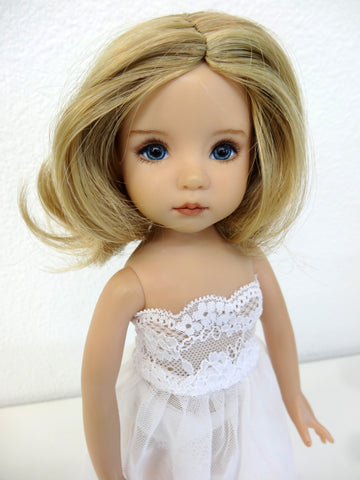 Sally Wig in Blonde with Pale Blonde Highlights - for Little Darling dolls