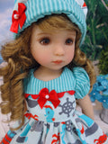 Saltwater Sweetie - dress, hat, tights & shoes for Little Darling Doll or other 33cm BJD
