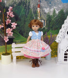 Salzburg Sweetie - dirndl ensemble with tights & boots for Little Darling Doll or 33cm BJD