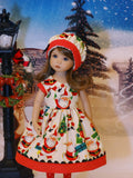 Santa Claus - dress, hat, tights & shoes for Little Darling Doll or 33cm BJD