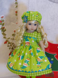 Santa's Elves - dress, hat, tights & shoes for Little Darling Doll or 33cm BJD