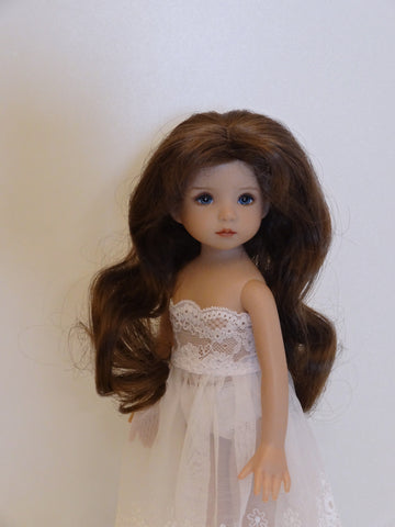Sara May Wig in Brown - for Little Darling dolls