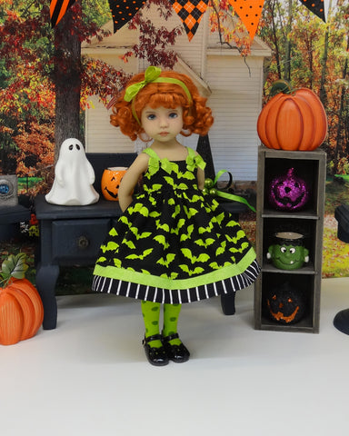 Scarefest - dress, tights & shoes for Little Darling Doll or 33cm BJD
