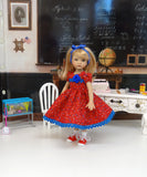 School Girl - dress, socks & saddle shoes for Little Darling Doll or other 33cm BJD