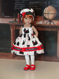 Scottish Terrier - dress, hat, tights & shoes for Little Darling Doll