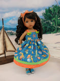 Sea Life - dress & sandals for Little Darling Doll or 33cm BJD