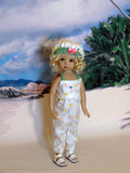 Sea Turtles - romper, hat & sandals for Little Darling Doll