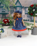 Seasonal Blues - dress, sweater, hat, tights & shoes for Little Darling Doll or 33cm BJD