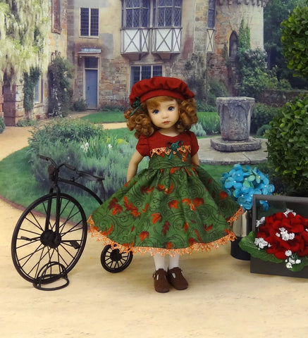 Seasonal Winds - dress, hat, tights & shoes for Little Darling Doll or 33cm BJD