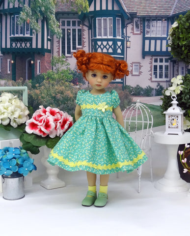 Secret Meadow - dress, socks & shoes for Little Darling Doll or other 33cm BJD