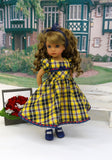 September Plaid - dress, socks & shoes for Little Darling Doll or other 33cm BJD