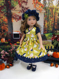 September Robin - dress, beret, tights & shoes for Little Darling Doll or 33cm BJD
