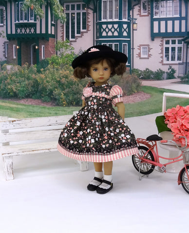 Serene Meadow - dress, hat, socks & shoes for Little Darling Doll or 33cm BJD