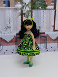Shamrock Sweetie - dress, tights & shoes for Little Darling Doll or 33cm BJD