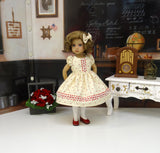 Simple Autumn - dress, tights & shoes for Little Darling Doll or other 33cm BJD