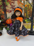 Skeleton Dance - dress, hat, tights & shoes for Little Darling Doll or 33cm BJD