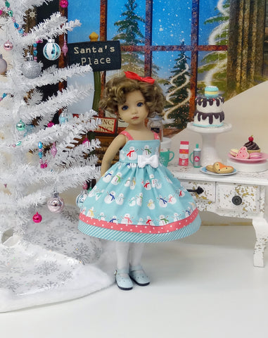 Snow Family - dress, tights & shoes for Little Darling Doll or 33cm BJD