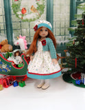 Snow Much Fun - dress, sweater, hat, tights & shoes for Little Darling Doll or 33cm BJD