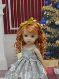 Snowflake Splendor - dress, tights & shoes for Little Darling Doll or 33cm BJD