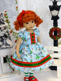 Snowman Antics - dress, tights & shoes for Little Darling Doll