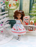 Snowy Owls - dress, sweater, socks & shoes for Little Darling Doll or 33cm BJD