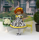 Sophisticated Garden - dress, tights & shoes for Little Darling Doll or 33cm BJD